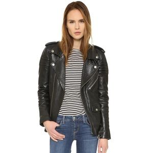 BLK DNM Motorcycle Jacket With Quilted Stripes